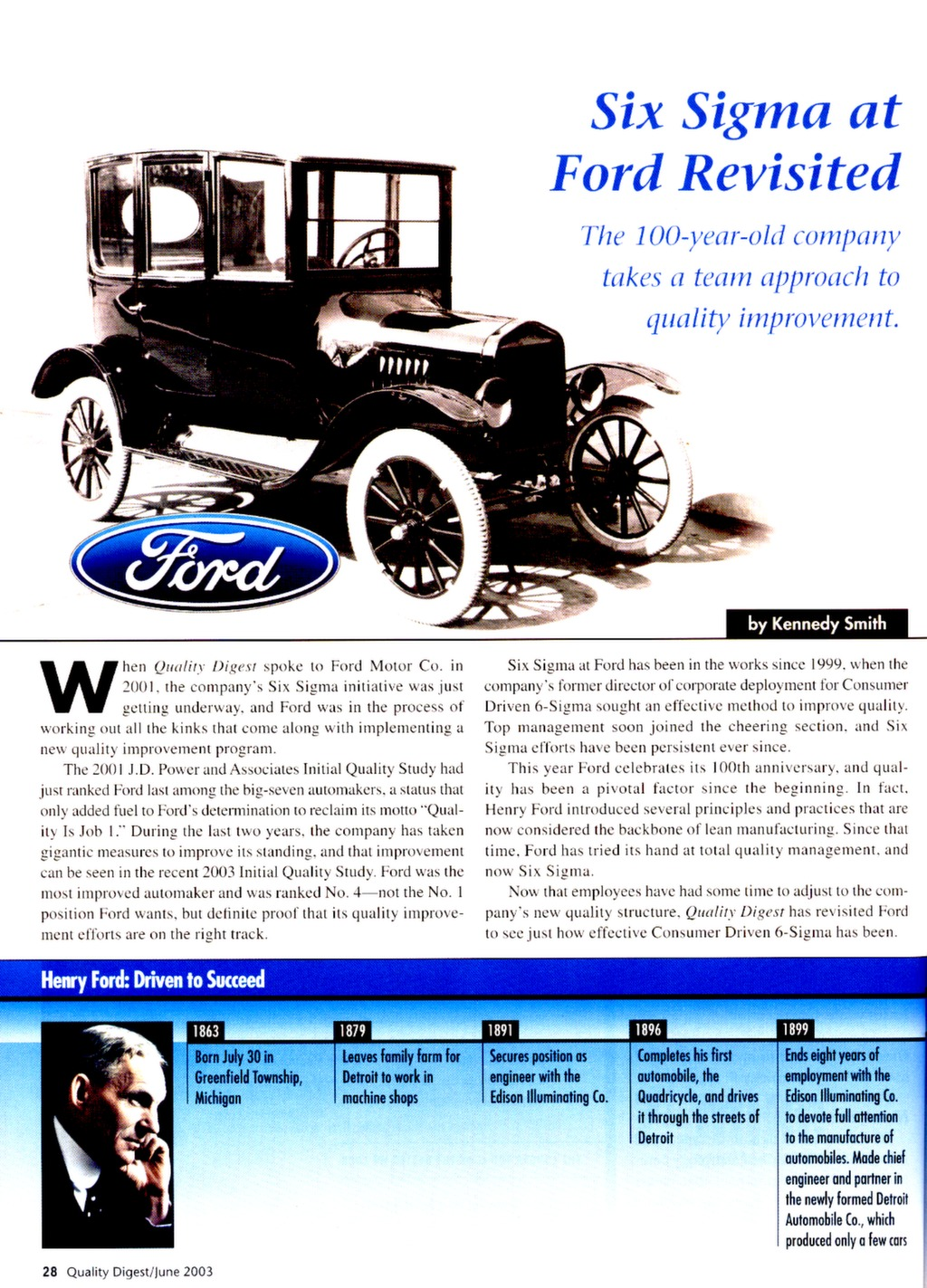 Six Sigma at Ford Revisited — ISSSP for Lean Six Sigma
