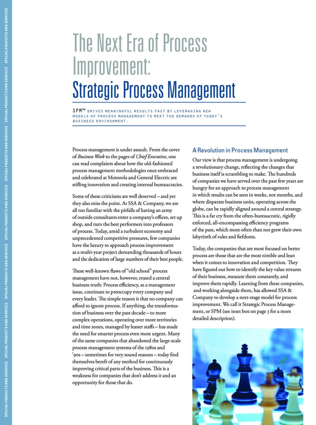 The Next Era of Process Improvement: Strategic Process