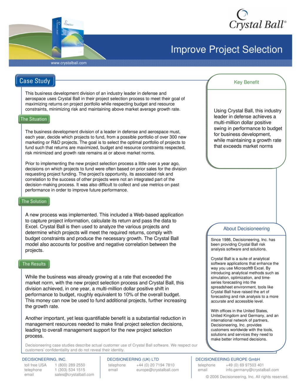 Case Study: Improve Project Selection — ISSSP for Lean Six Sigma