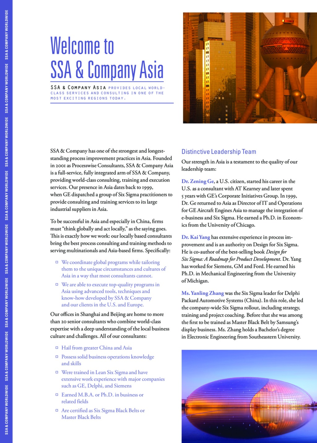 Welcome to SSA & Company Asia — ISSSP for Lean Six Sigma