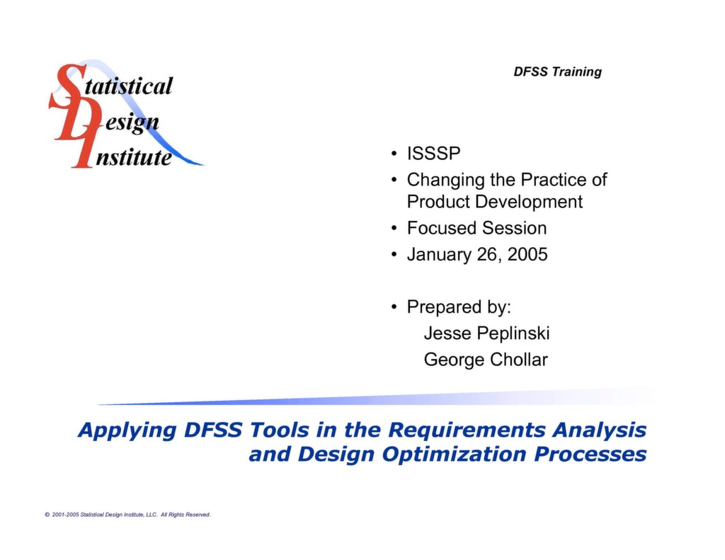 Six Sigma Presentation Successfully Implementing And Using Dfss Tools