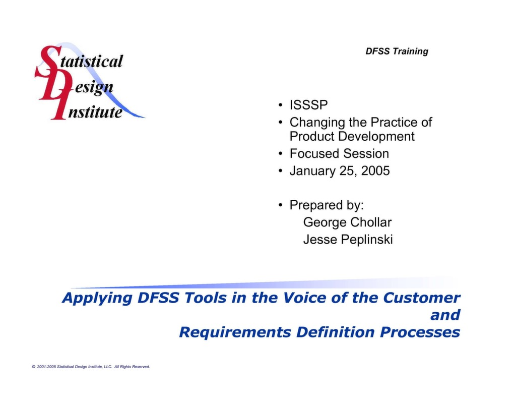Presentation Product Life Cycle Management And The Role Of Dfss