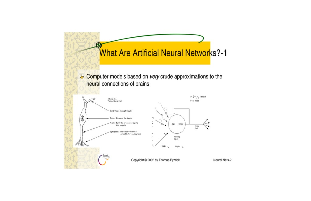 Artificial Neural Networks - A Mini Tutorial — ISSSP for